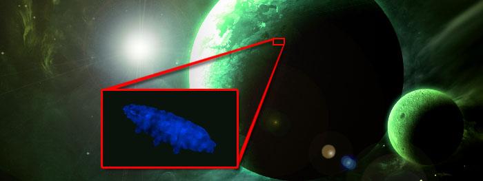 brilhos fluroescentes sinal de vida alienigena