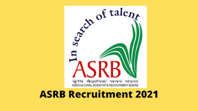 ASRB Recruitment 2021 Notification for 65 STO Posts
