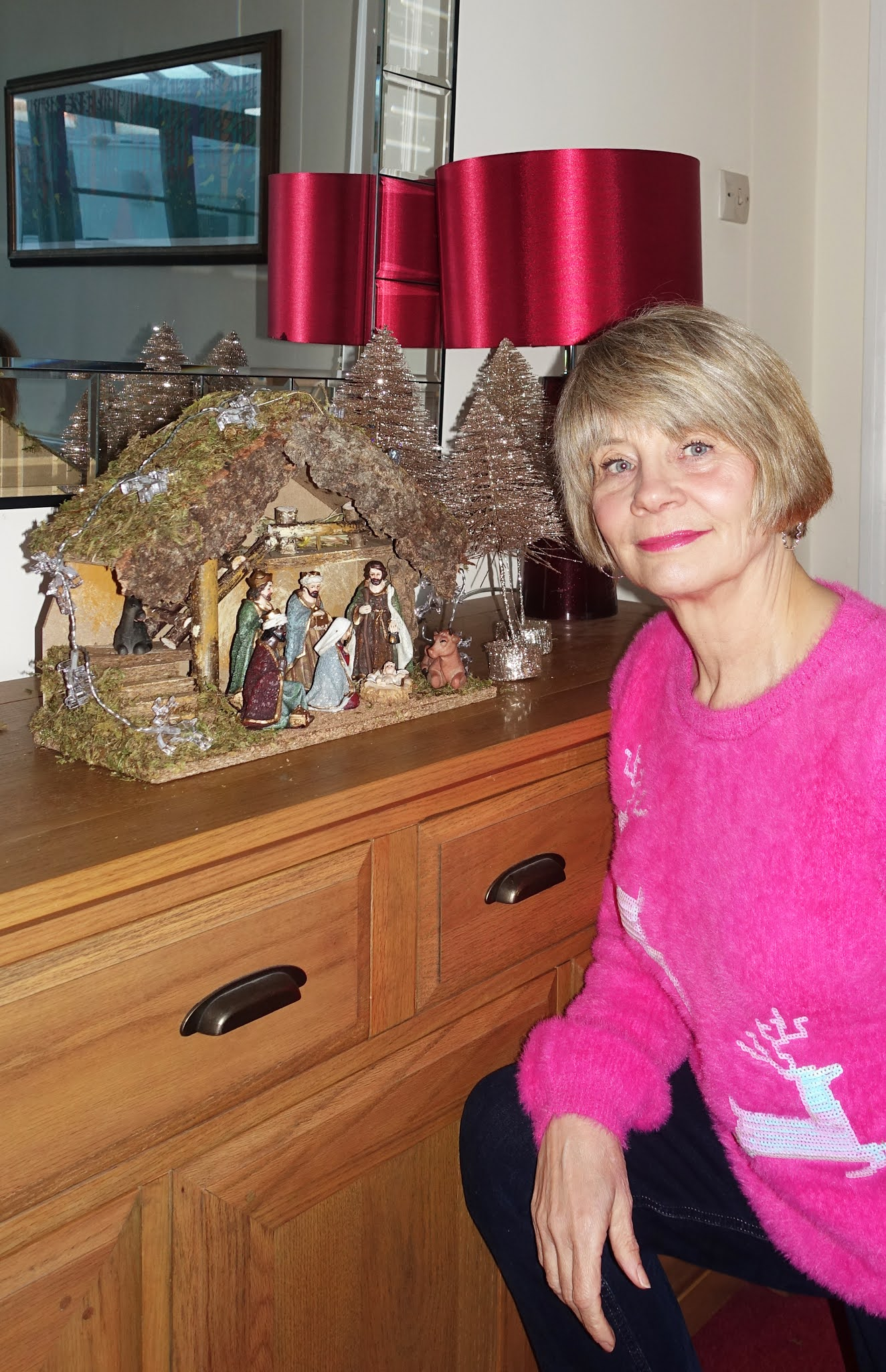 A traditional nativity crib - Is This Mutton