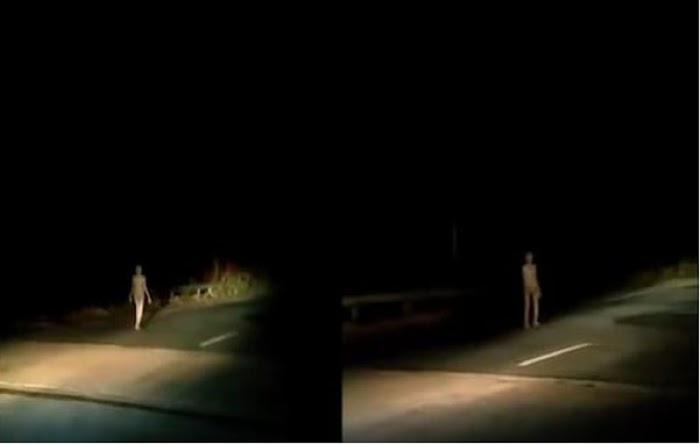 Video Viral Penampakan Mirip Alien Jalan-jalan Malam Hari