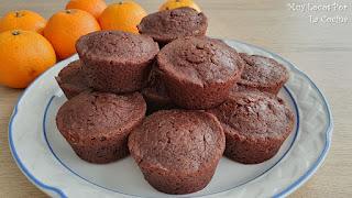 Muffins de Doble Chocolate y Frambuesas