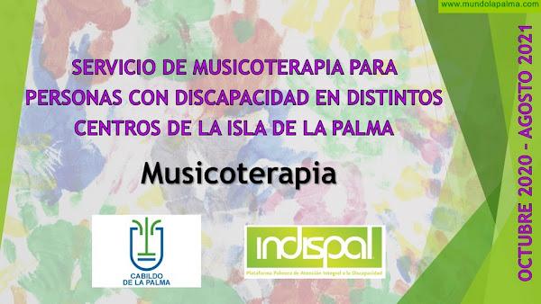 Indispal gestiona el servicio de Musicoterapia para personas con discapacidad