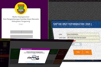 simpeg,simASN BKPPD Kab. Tangerang tahun 2017