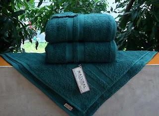 Handuk Merk Natural warna hijau tosca