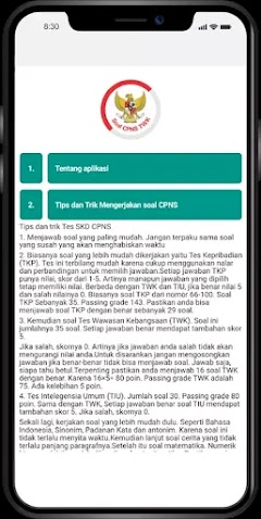 Download Aplikasi Simulasi CAT CPNS TWK Android