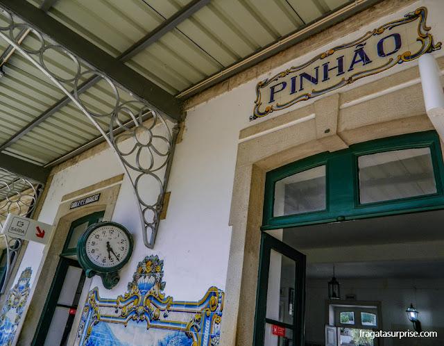 Estação Ferroviária de Pinhão, no Alto Douro, Portugal