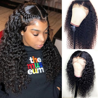 HD deep wave hair wig