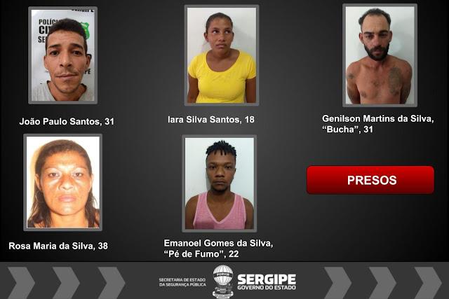 Operação conjunta prende cinco traficantes em Canindé de São Francisco/SE