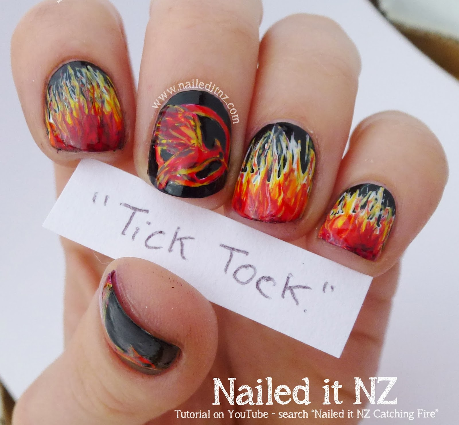 Nail Art Quotes: Catching Fire Nail Art, Quotes & Tutorial