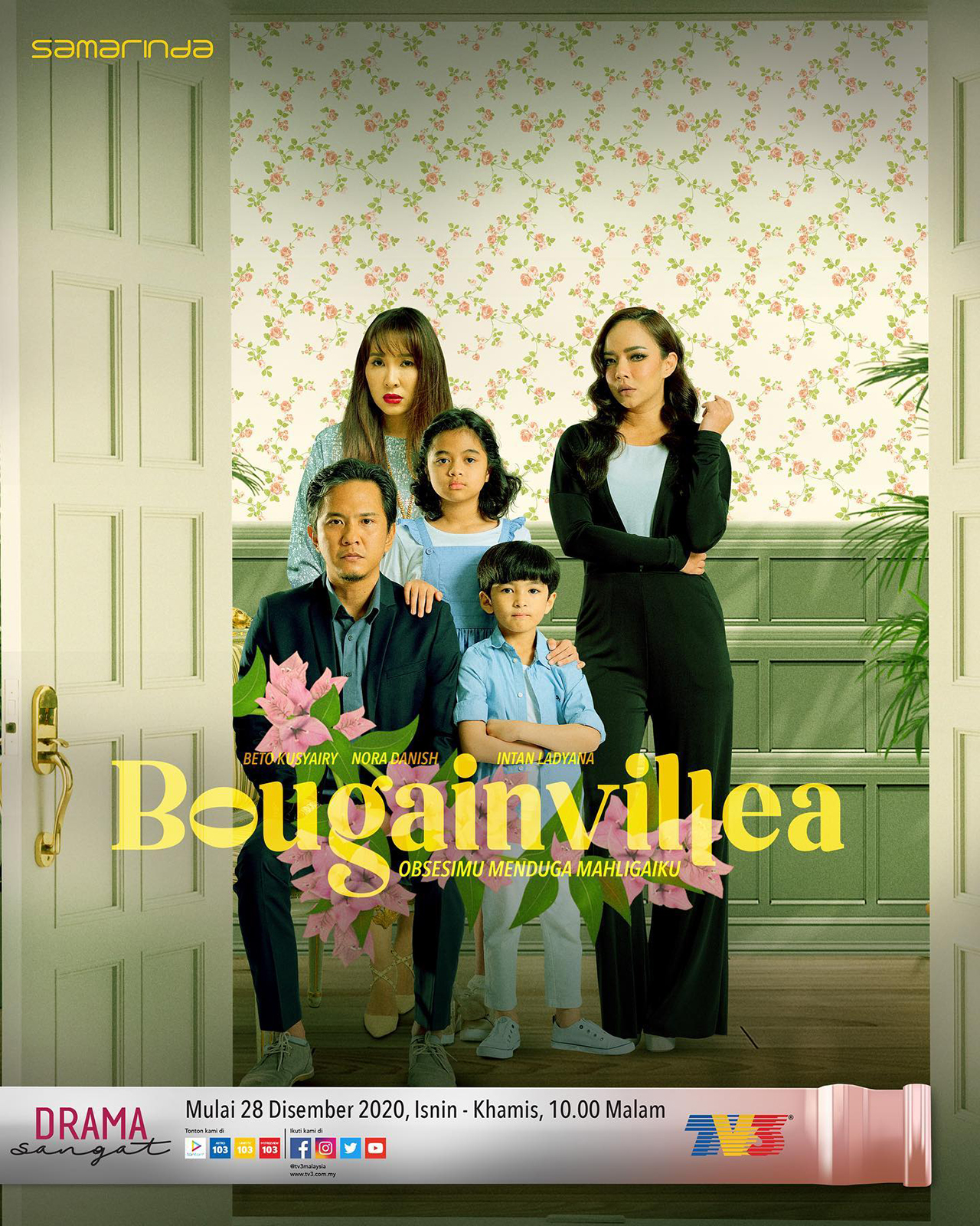 Drama Bougainvillea Episod 1-15(Akhir) Lakonan Beto Kusyairy dan Intan Ladyana