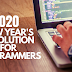 2020 New Year's Resolutions For Programmers