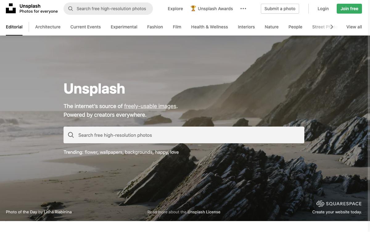 Unsplash, dove trovare foto gratis a scopo commerciale