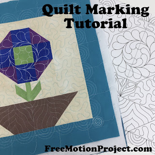How to Mark Your Quilt Top Tutorial