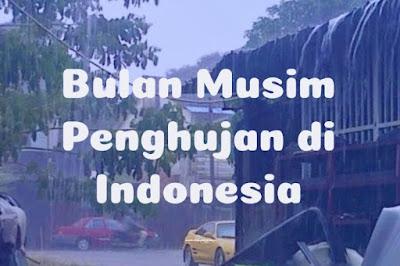 Pada bulan apakah musim penghujan terjadi di Indonesia