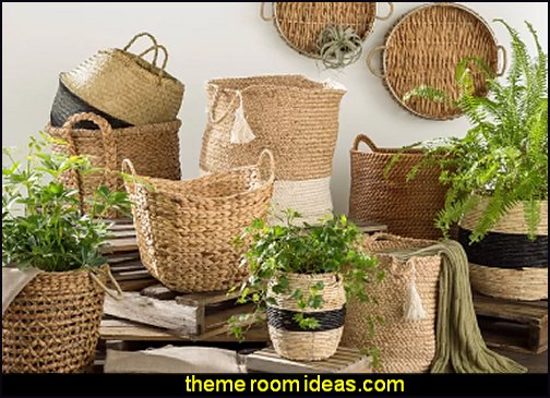 Fabric Storage Baskets baskets wicker baskets woven baskets rustic home decor