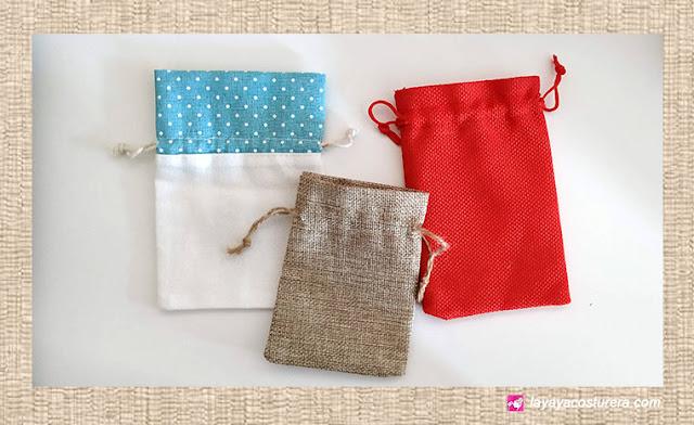 Diferentes tipos de telas para realizar bolsitas