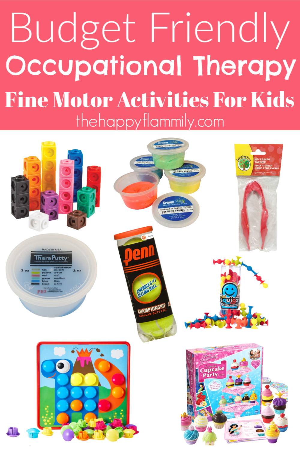 Fine Motor strengthening activities. Fine motor skills activities for 5-6 year olds. Fine motor activities for 8 year olds. Fine Moto activities occupational therapy. OT activities for toddlers. OT toolbox. Fine motor activities with household items. OT ideas for kids. Fun fine motor ideas for kids. Cheap and inexpensive fine motor activities for kids. Ideas for at home occupational therapy. #ot #occupationaltherapy #finemotor #crafts #kids #fun #therapy #pt #physicaltherapy