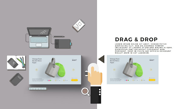 Desktop Scene Creator Free PowerPoint Template