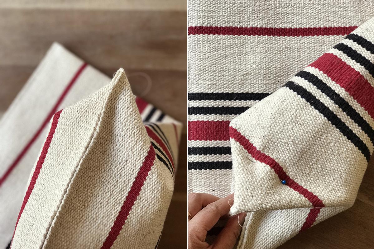 Decoraci n f cil c mo hacer un bolso con una alfombra de ikea - Ikea textiles y alfombras ...