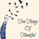 ttot, ten things of thankful, gratitude blog
