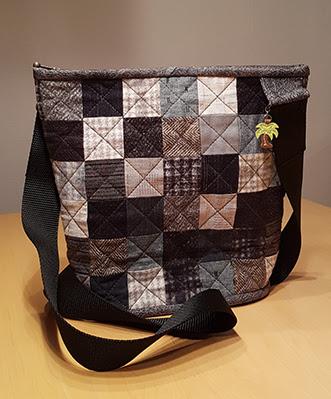 Taske af firkanter i flonel fra Quilt My Design