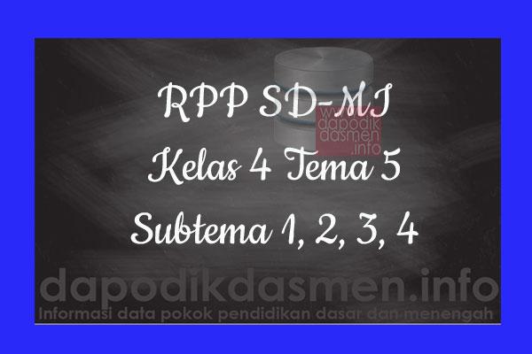 RPP Tematik SD/MI Kelas 4 Tema 5 Subtema 1 2 3 4 Semester 2, Download RPP Kelas 4 Tema 5 Subtema 1 2 3 4 Kurikulum 2013 SD/MI Revisi Terbaru, RPP Silabus Tematik Kelas 4