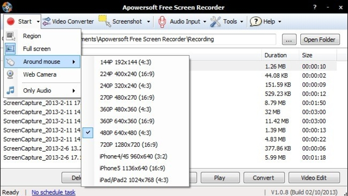 Apowersoft screen recorder free online