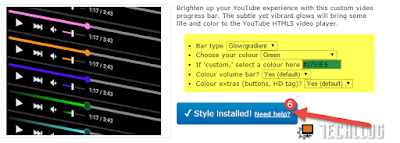 Youtube Custom Progress bar