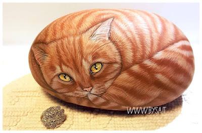 prezzi sassi dipinti gatti rossi
