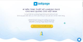 Tạo landingpage với ladipage