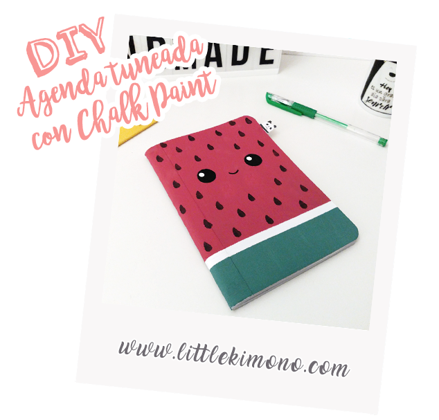 Agenda Kawaii con Chalk Paint @DeTiza