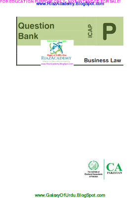 CAF-03 - BUSINESS LAW 2016- QUESTION BANK
