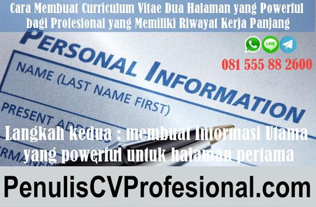 Jasa Pembuatan CV untuk yang berpengalaman