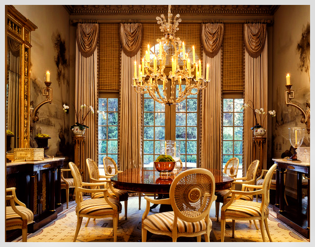 Dining room window treatments use antique traditional dinning room with tall window treatment