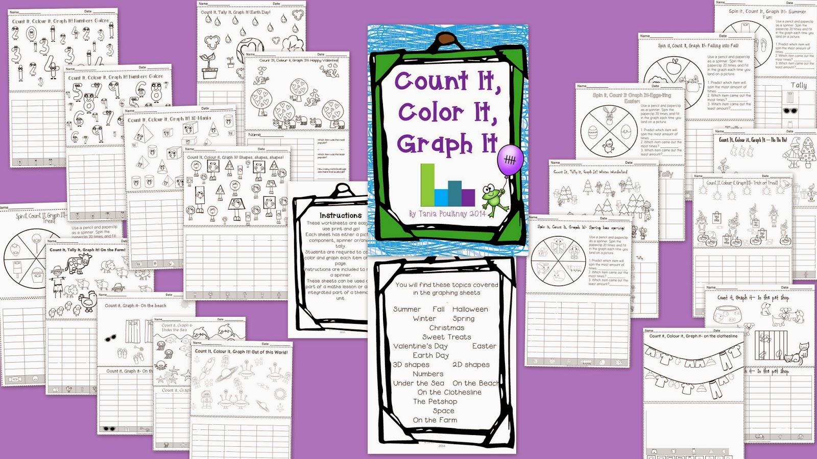 Mrs Poultney S Ponderings Count It Color It Graph It