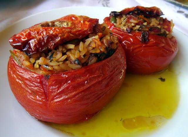 Gemista - Rice stuffed paprikas