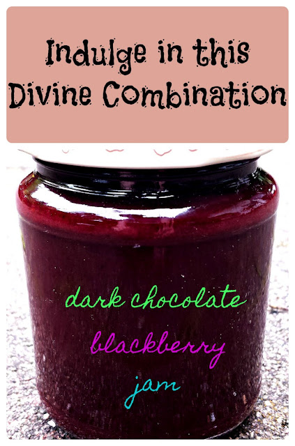 indulge in this divine combination - dark chocolate blackberry jam