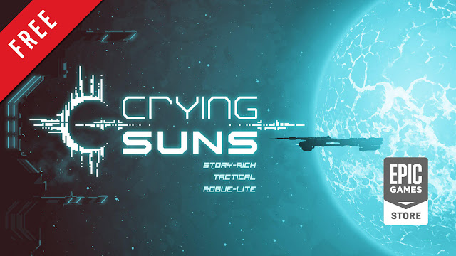 crying suns free pc game epic games store tactical rogue-lite strategy game alt shift humble games