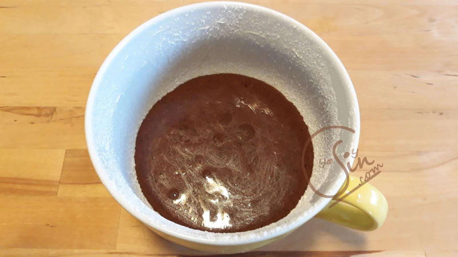 Mug cake microondas sin azucar