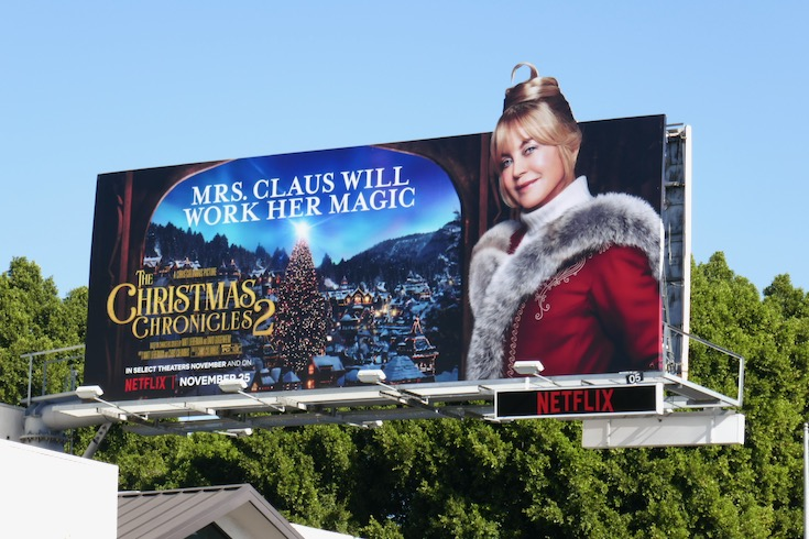 Goldie Hawn Christmas Chronicles 2 billboard