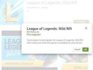 Pre-Register League of Legends - Wild rift