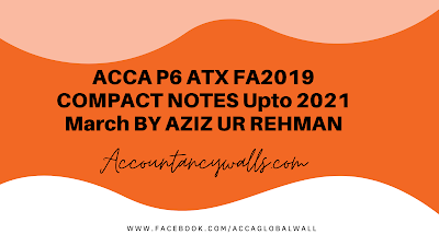 ACCA P6 Finance Act 2019 NOTES Download
