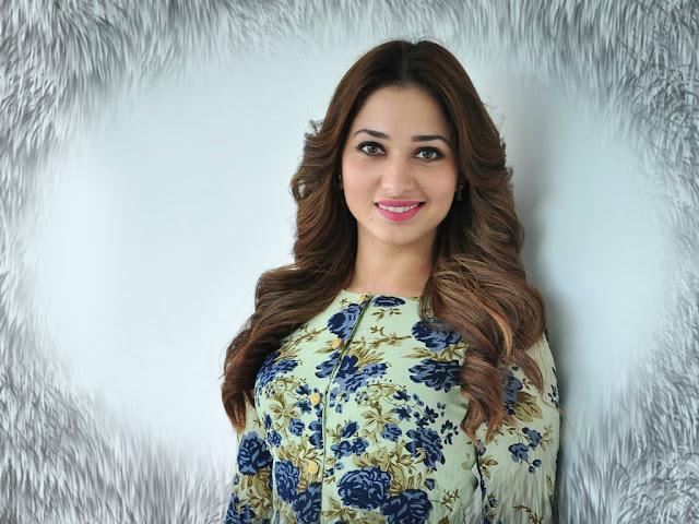 Actress Tamannah Bhatia Latest Hot  Blue Skirt PhotoShoot Images