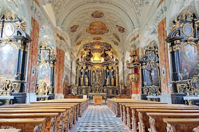 Basílica Wilten en Innsbruck, Austria