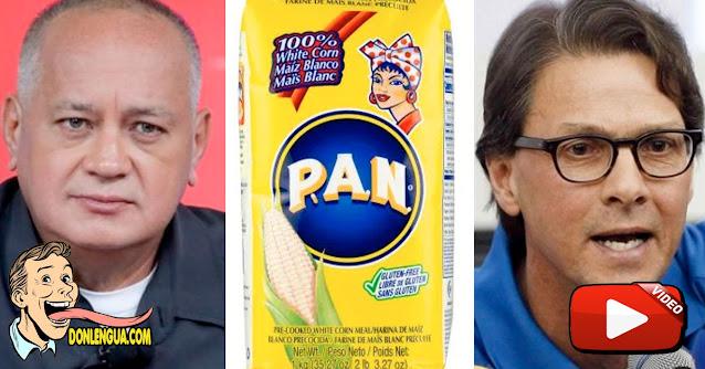 Diosdado Cabello acusó a Lorenzo Mendoza de robarse la receta para preparar la Harina PAN