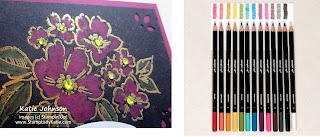 Watercolor pencils to color on black cardstock