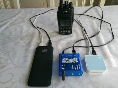 DMR portable setti reissuja varten, kun verkkovirtaa ei olisi saatavilla