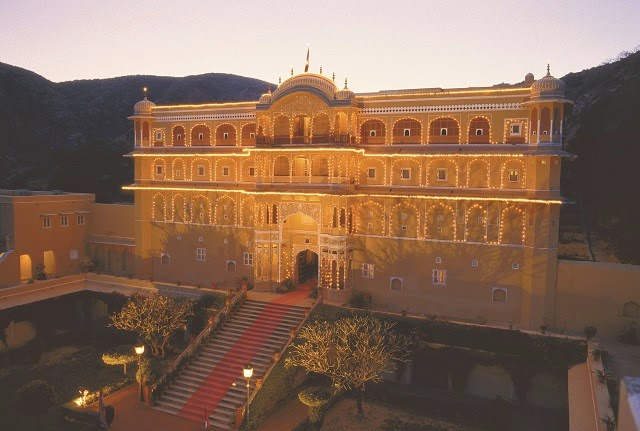 Samode Palace in Jaipur is one of the top heritage hotels in India