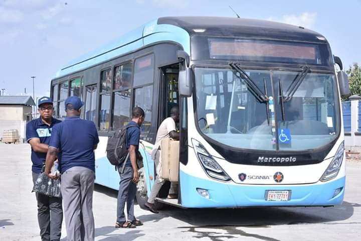 Lagos Begins Test Run Of New BRT Buses With Free Services (Photos)