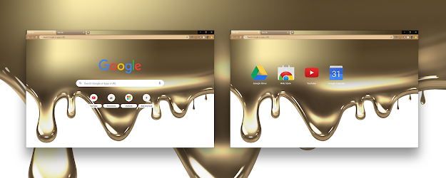 Liquid Gold Google Theme  | Chrome Web Store